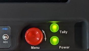 CinemonitorHD - CinemonitorUHD Tally and Power lights