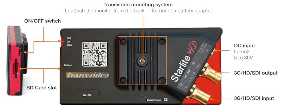 Transvideo StarliteHD connectors