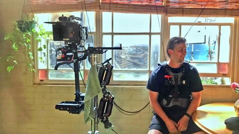 Peter Barta, Steadicam operator - Shooting of Long Story Short in Sydney, 2019